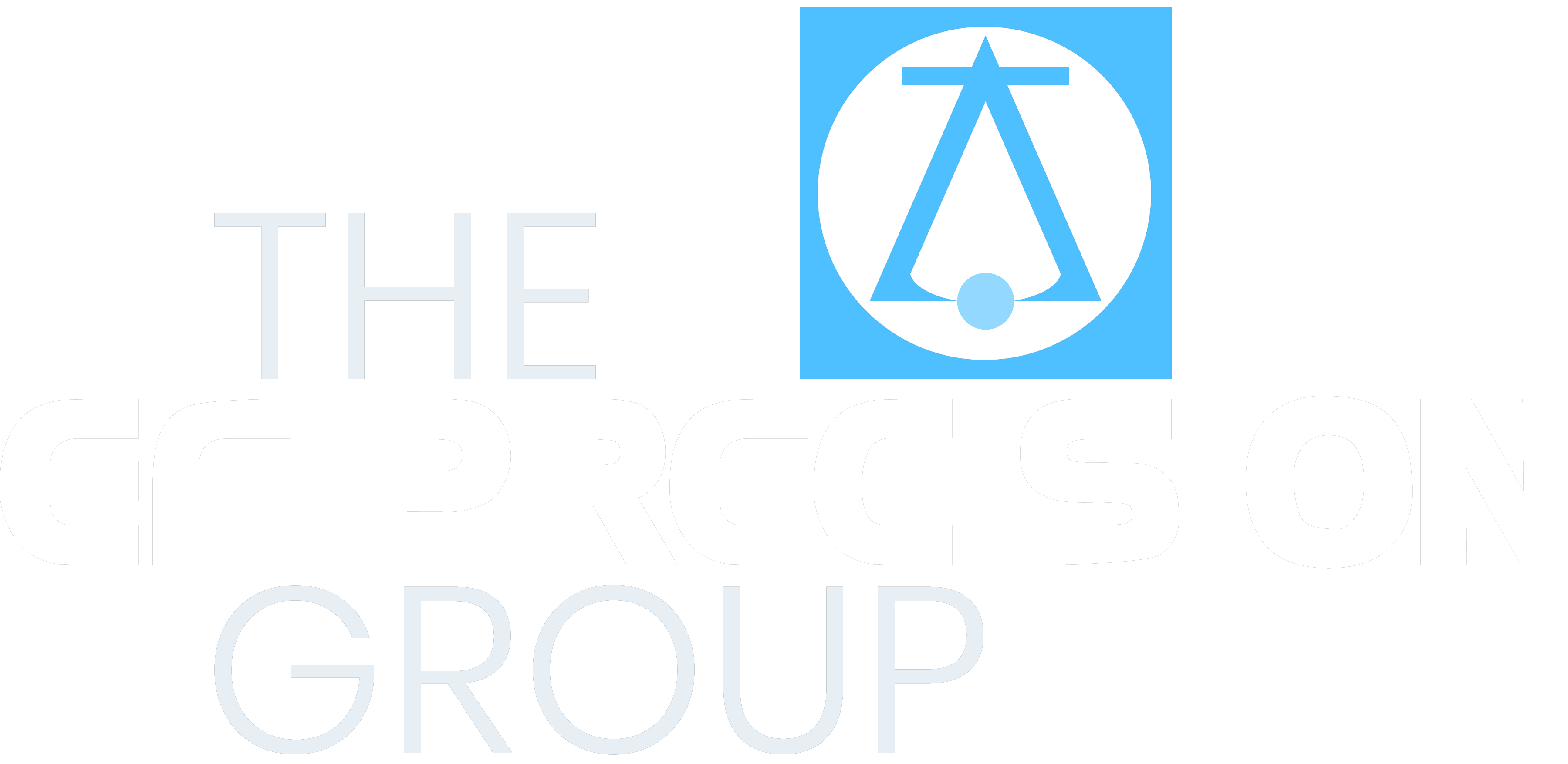 EF Precision Group Logo - White