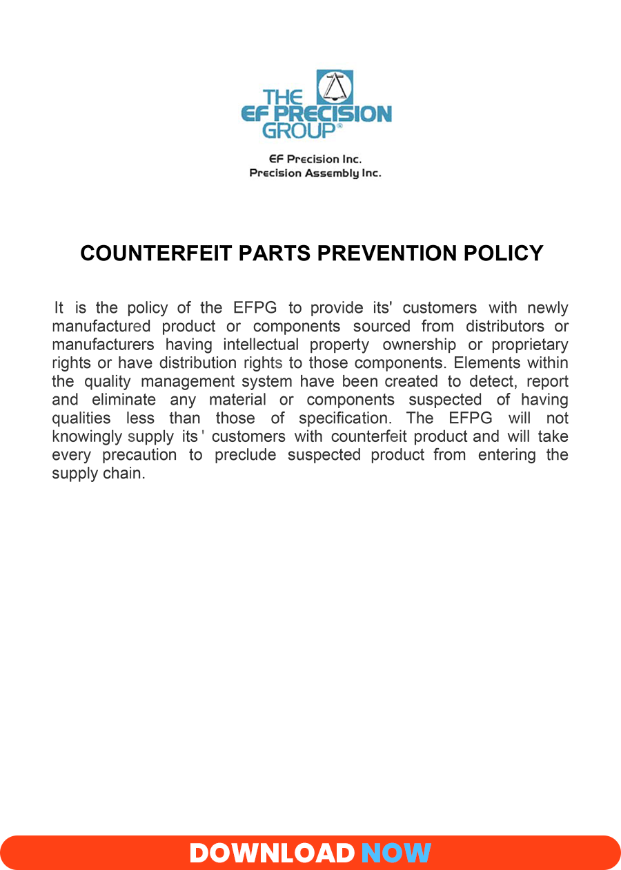 Counterfit Parts Prevention Policy