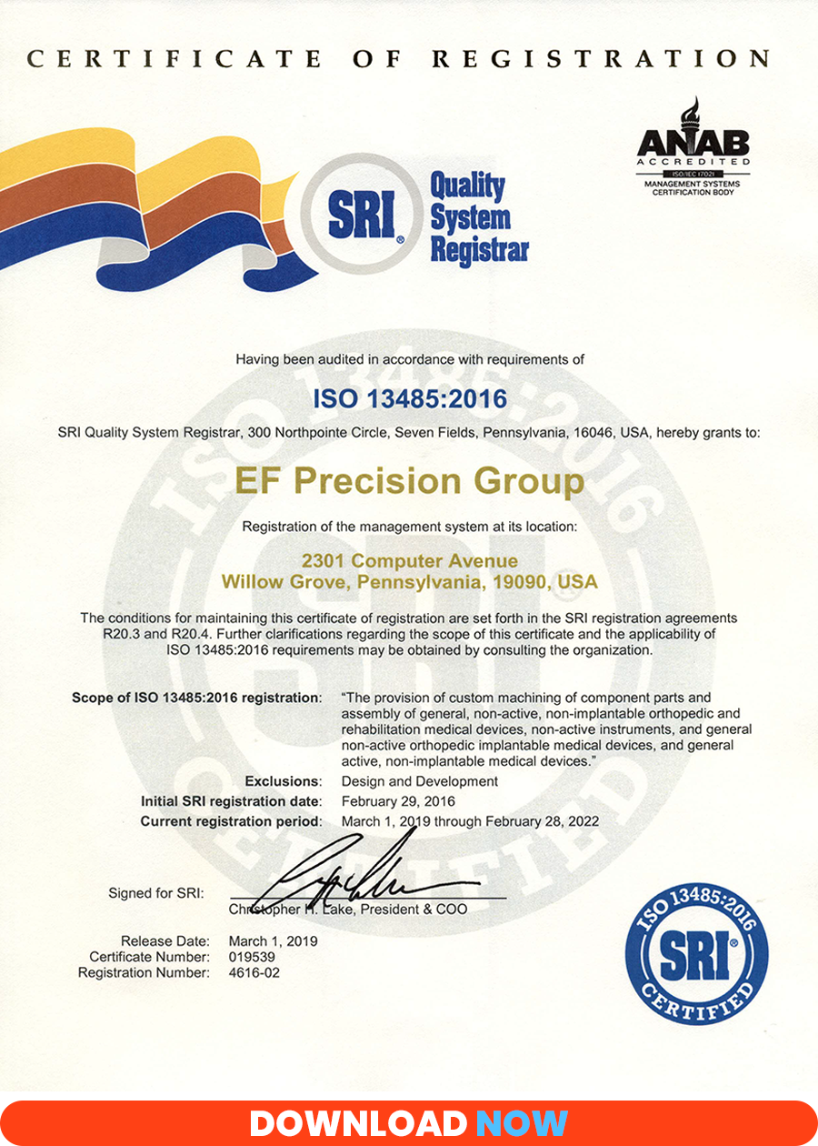 ISO13485-2016 Certificate of Registration